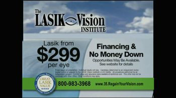 The LASIK Vision Institute TV Spot, '$299' - Thumbnail 2