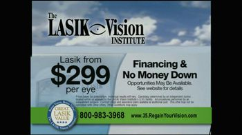 The LASIK Vision Institute TV Spot, '$299' - Thumbnail 3