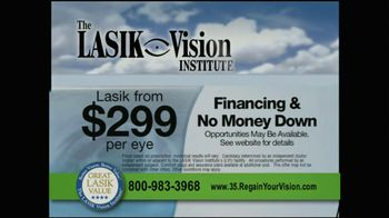 The LASIK Vision Institute TV Spot, '$299' - Thumbnail 5