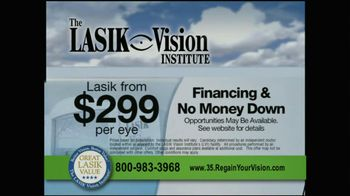 The LASIK Vision Institute TV Spot, '$299' - Thumbnail 6