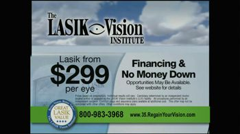 The LASIK Vision Institute TV Spot, '$299' - Thumbnail 7