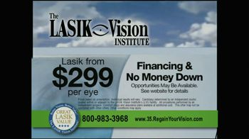 The LASIK Vision Institute TV Spot, '$299' - Thumbnail 8
