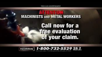 Norris Injury Lawyers TV Spot, 'Machinists and Metal Workers' - Thumbnail 4