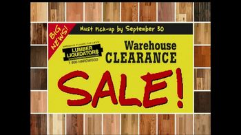 Lumber Liquidators Warehouse Clearance Sale TV Spot