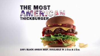 Carl's Jr. Most American Thickburger TV Spot, 'Because America' - Thumbnail 9