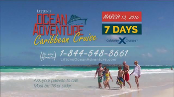 Litton's Weekend Adventure Ocean Adventure Cruise TV Spot, 'Celebrity' - Thumbnail 7