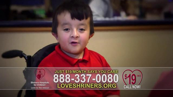Shriners Hospitals For Children TV Spot, 'Because of You' - 1542 commercial airings