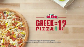 Papa John's Greek Pizza TV Spot, 'Back from Greece with Pizza' - Thumbnail 3