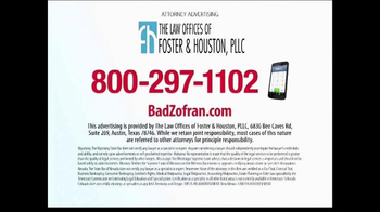 Law Offices of Foster & Houston TV Spot, 'Bad Zofran' - Thumbnail 5