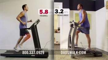 Bowflex Treadclimber TV Spot, 'Dads walk'