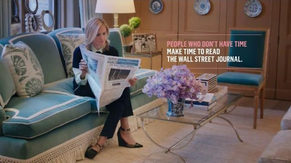 The Wall Street Journal TV Commercial, 'Tory Burch Makes Time to Read the WSJ'
