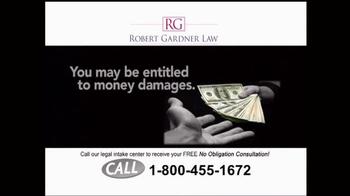 Robert Gardner Law TV Spot, 'Benicar' - Thumbnail 7