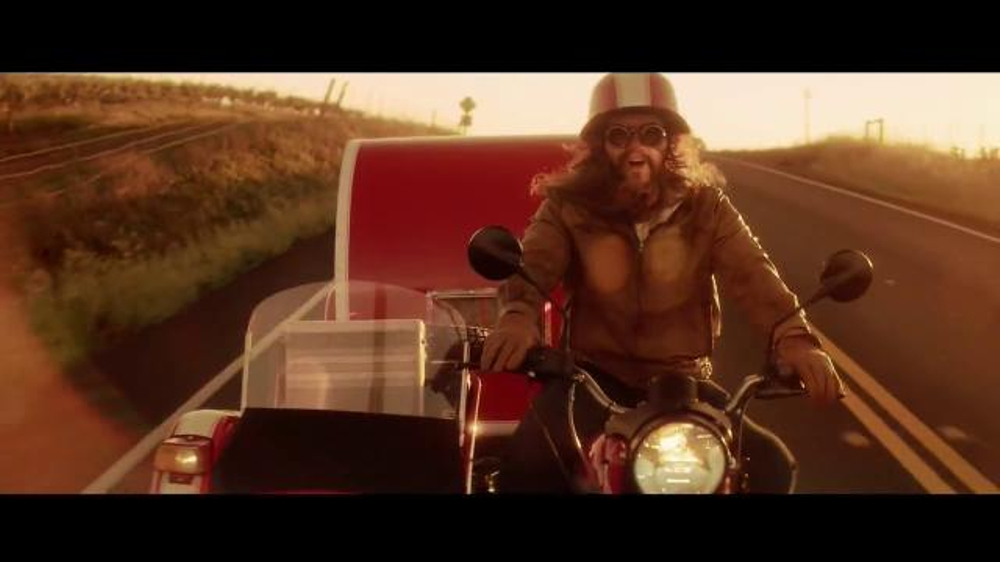 Redhead in geico motorcycle commercial remarkable