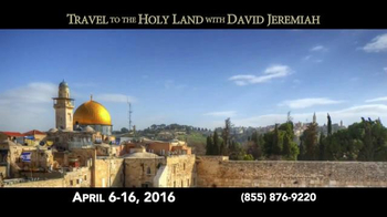 Turning Point with Dr. David Jeremiah TV Spot, 'Travel to the Holy Land'