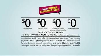 Honda Summer Clearance Event TV Spot, 'New Apartment' - Thumbnail 8