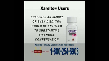 The Monsour Law Firm TV Spot, 'Xarelto Users'