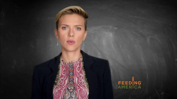 Feeding America TV Spot, 'Child Hunger PSA' Featuring Scarlett Johansson