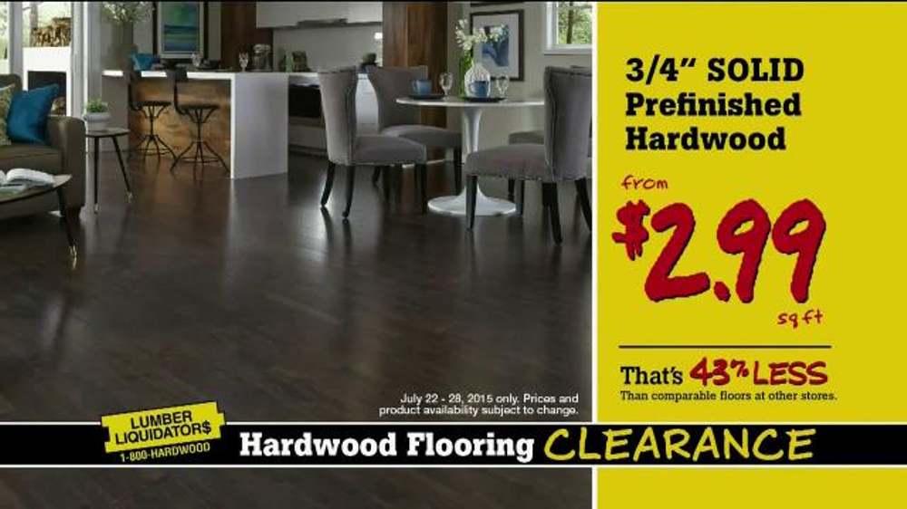 Lumber Liquidators Hardwood Flooring Clearance TV Commercial, U0027More Great  Dealsu0027   ISpot.tv