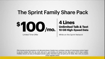 Sprint Family Share Pack TV Spot, 'Best Family' Song by Flo Rida - Thumbnail 9