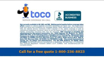 Toco Warranty TV Spot, 'Vehicle Service Contract' - Thumbnail 9