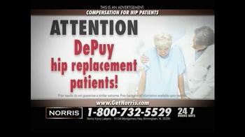 Norris Injury Lawyers TV Spot, 'Hip Patients' - Thumbnail 2