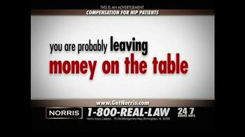 Norris Injury Lawyers TV Spot, 'Hip Patients' - Thumbnail 4