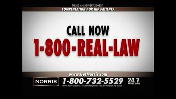 Norris Injury Lawyers TV Spot, 'Hip Patients' - Thumbnail 6
