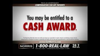 Norris Injury Lawyers TV Spot, 'Hip Patients' - Thumbnail 9