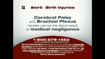 Sokolove Law TV Spot, 'Birth Injuries' - Thumbnail 1