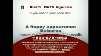 Sokolove Law TV Spot, 'Birth Injuries' - Thumbnail 4