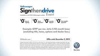 Volkswagen Sign Then Drive Event TV Spot, 'Just a Signature' - Thumbnail 8