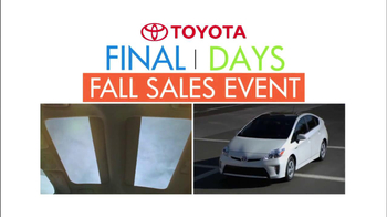 Toyota Fall Sales Event: Prius TV Spot, 'Final Days'  - Thumbnail 4
