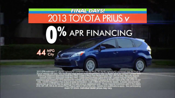 Toyota Fall Sales Event: Prius TV Spot, 'Final Days'  - Thumbnail 5