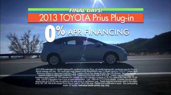 Toyota Fall Sales Event: Prius TV Spot, 'Final Days'  - Thumbnail 6