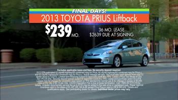 Toyota Fall Sales Event: Prius TV Spot, 'Final Days'  - Thumbnail 7