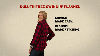 Duluth Trading Women's Flannel TV Spot, 'Hugging a Tree' - Thumbnail 7