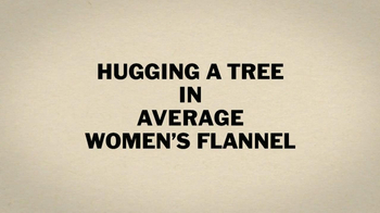 Duluth Trading Women's Flannel TV Spot, 'Hugging a Tree' - Thumbnail 1