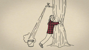 Duluth Trading Women's Flannel TV Spot, 'Hugging a Tree'