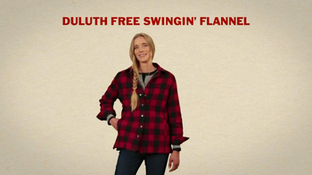 Duluth Trading Women's Flannel TV Spot, 'Hugging a Tree' - Thumbnail 6