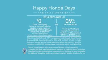 Honda Happy Honda Days: CR-V TV Spot, 'The Spirit' Featuring Michael Bolton - Thumbnail 10