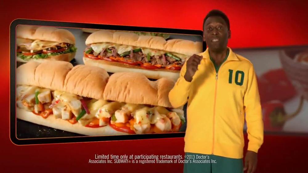 Subway Sriracha Chicken Melt TV Commercial Feat. Michael Phelps, Pele