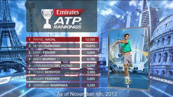 ATP World Tour TV Spot, 'Emirates ATP Rankings' - Thumbnail 10