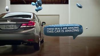 Honda El Evento Escoge tu Civic Perfecto TV Spot, 'Globos' [Spanish] - 7 commercial airings