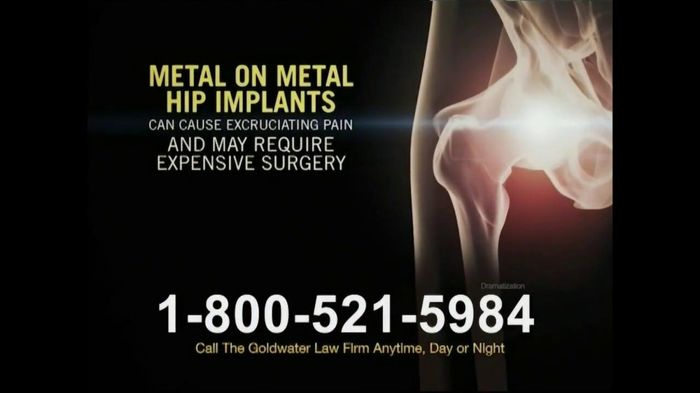 Goldwater Law Firm TV Commercial, 'Hip Replacement'
