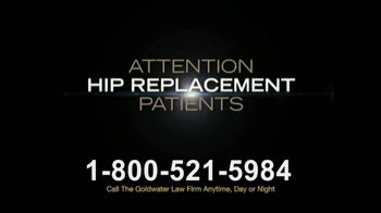 Goldwater Law Firm TV Spot, 'Hip Replacement' - Thumbnail 1