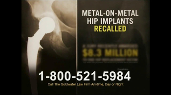 Goldwater Law Firm TV Spot, 'Hip Replacement' - Thumbnail 2