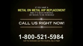 Goldwater Law Firm TV Spot, 'Hip Replacement' - Thumbnail 5