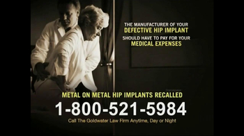 Goldwater Law Firm TV Spot, 'Hip Replacement' - Thumbnail 8