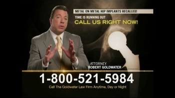 Goldwater Law Firm TV Spot, 'Hip Replacement' - Thumbnail 9