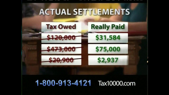 TAX10000 TV Spot, \'Negotiated Tax Settlements\'